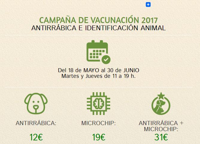 Campaña antirrábica 2017 en Madrid